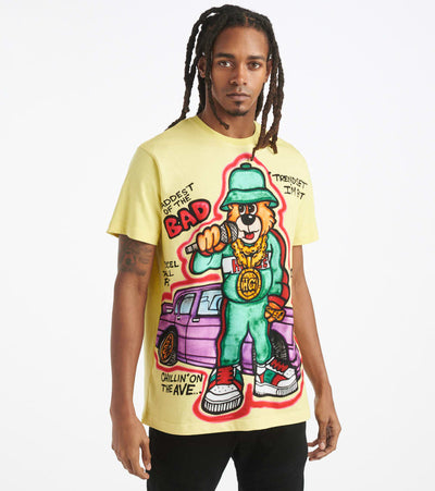 Hustle Gang  Trendsetter Knit Tee  Yellow - 2011312-YEL | Jimmy Jazz