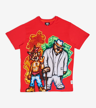 Hustle Gang  East West Dream Short Sleeve Knit  Red - 2011327-RRD | Jimmy Jazz