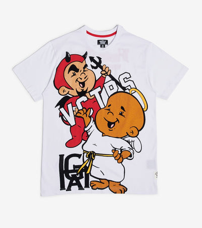 Hustle Gang  Positive VS Negative Knit Tee  White - 2013306-WHT | Jimmy Jazz