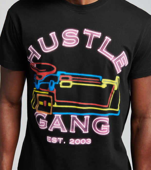 Hustle Gang  Triple Glow Short Sleeve Tee  Black - 2016203-BLK | Jimmy Jazz
