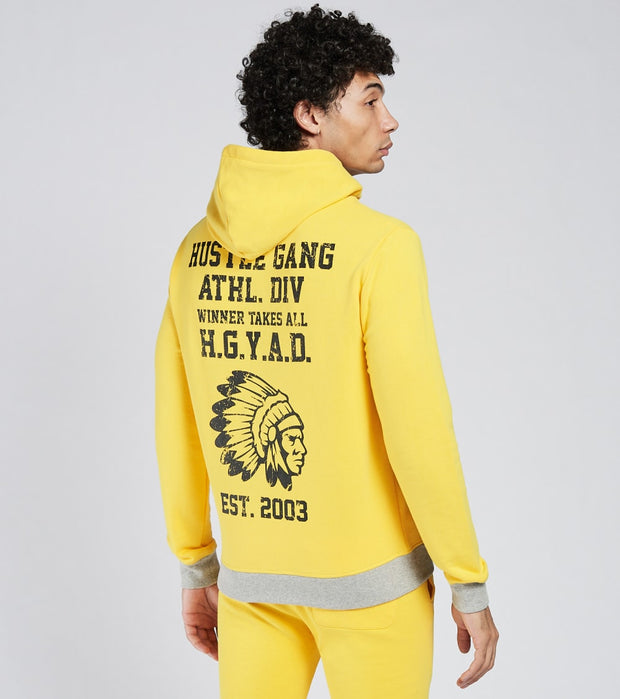 Hustle Gang  Goal Line Full Zip Hoodie  Yellow - 2018304-DAN | Jimmy Jazz