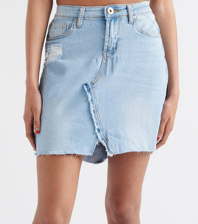 Essentials  Mid Length Denim Skirt  Blue - 20892-LTB | Jimmy Jazz