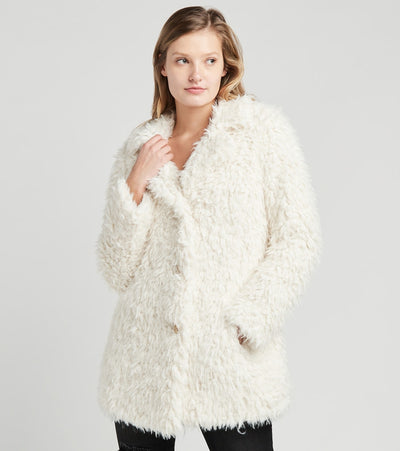 Guess  Faux Fur Jacket  Beige - 22KMF128-CRM | Jimmy Jazz