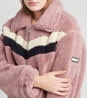Guess  Faux Fur Teddy Jacket  Purple - 22KMF463-BLS | Jimmy Jazz