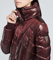 Guess  Liquid Core Puffer Jacket  Burgundy - 22LMP540-BRG | Jimmy Jazz