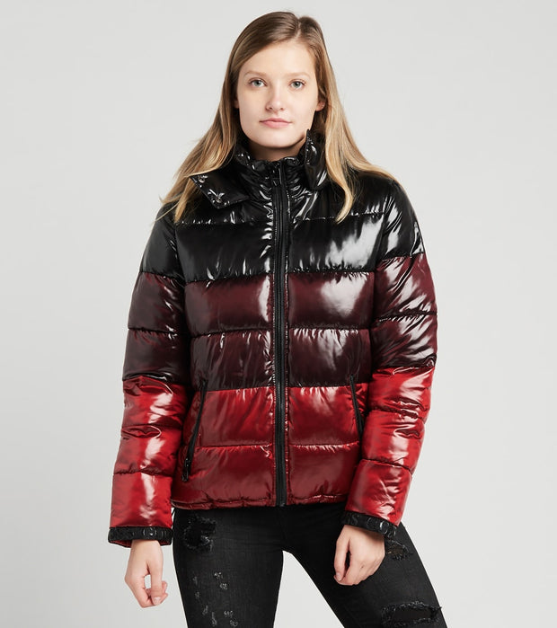 Guess  Liquid Multicolor Puffer Jacket  Black - 22LMP757-BKR | Jimmy Jazz