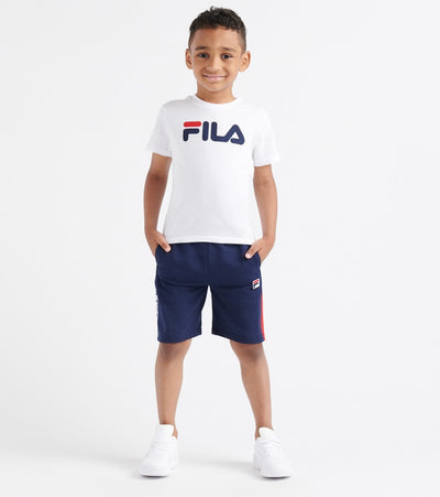 Fila  Classic Logo Tee and Short Set  White - 25F359-WHT | Jimmy Jazz