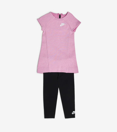 Nike  Girls Tech Fleece Dress and Leggings Set  Pink - 26C084-P2P | Jimmy Jazz