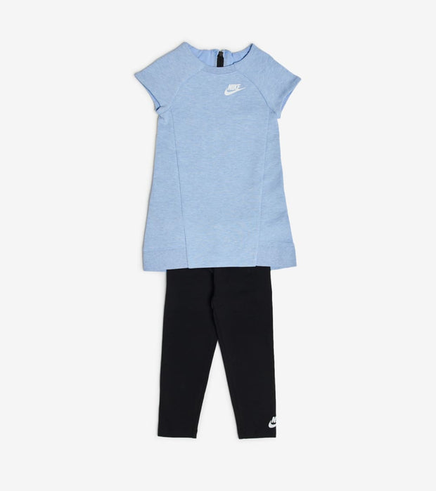 Nike  Girls Tech Fleece Dress and Leggings Set  Grey - 26C084-U2V | Jimmy Jazz