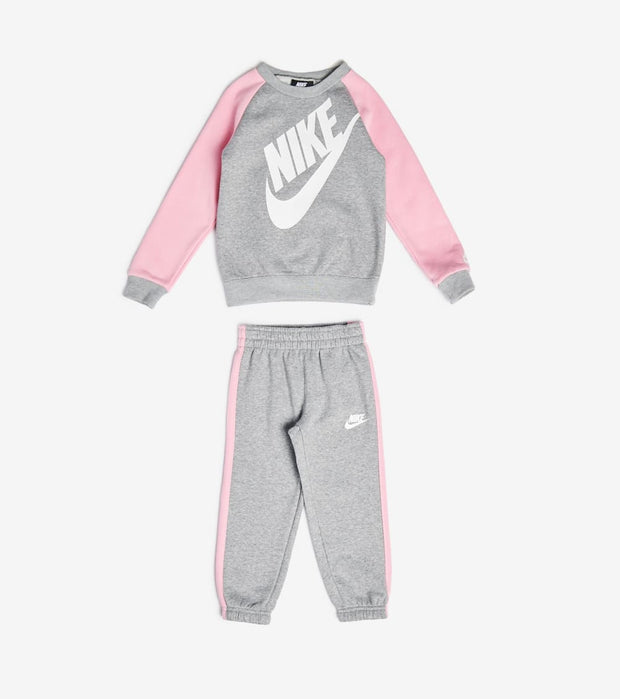 Nike  Girls Oversized Futura Sweatshirt Set  Grey - 26F563-042 | Jimmy Jazz