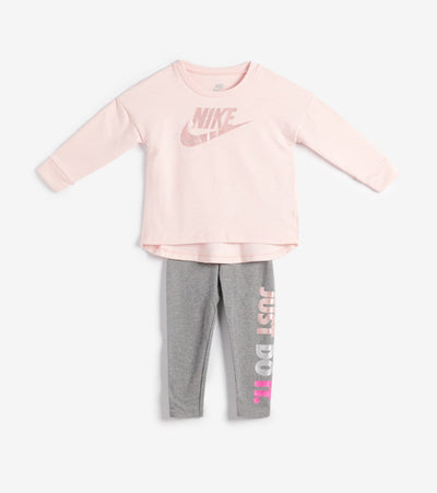 Nike  TD Girls Multi Shine Legging Set  Pink - 26F574-GEH | Jimmy Jazz