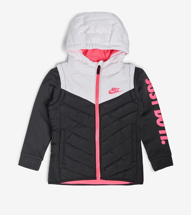 Nike  Girls 2fer Padded Jacket  Black - 26G674G-023 | Jimmy Jazz