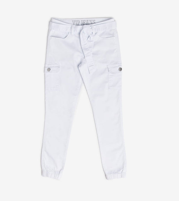 Essentials  Cargo Twill Joggers  White - 280595WHT-WHT | Jimmy Jazz