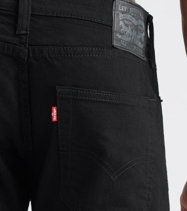 Levis  512 Slim Tapered Jeans - L32  Black - 28833L32-0049 | Jimmy Jazz