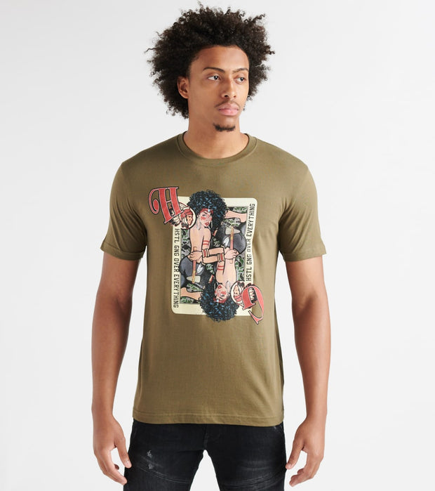 Hustle Gang  Twin Play SS Tee  Green - 2914208-CYP | Jimmy Jazz