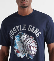 Hustle Gang  American Steel Tee  Navy - 2914213-NVY | Jimmy Jazz