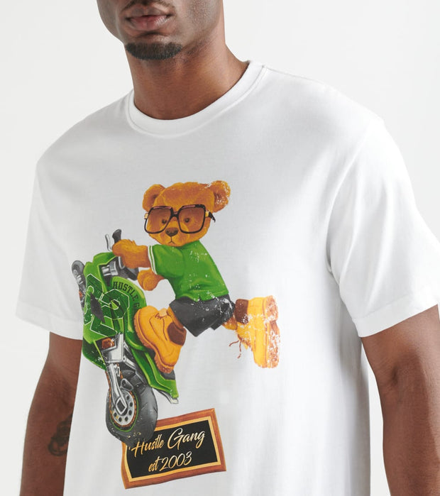 Hustle Gang  Wheely Bear Tee   White - 2918211-WHT | Jimmy Jazz