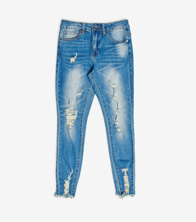 Essentials  Destructed Skinny Jeans  Blue - 29338MB-MEB | Jimmy Jazz