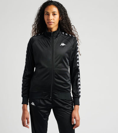 Kappa  222 Banda Wanniston Slim Track Jacket  Black - 301PSC0-005 | Jimmy Jazz