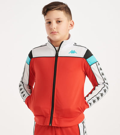 Kappa  Boys 3-12 222 Banda Merez Slim Jacket  Red - 303LP60Y-A65 | Jimmy Jazz