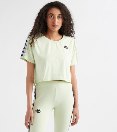 Kappa  222 Banda Apua Cropped Tee  Green - 303WGQ0-A36 | Jimmy Jazz