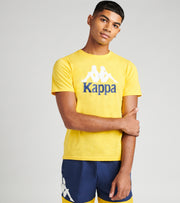 Kappa  Authentic Estessi Short Sleeve Tee  Yellow - 304KPT0-B2B | Jimmy Jazz