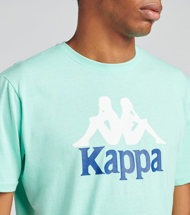 Kappa  Authentic Estessi Short SleeveTee  Green - 304KPT0-B2D | Jimmy Jazz