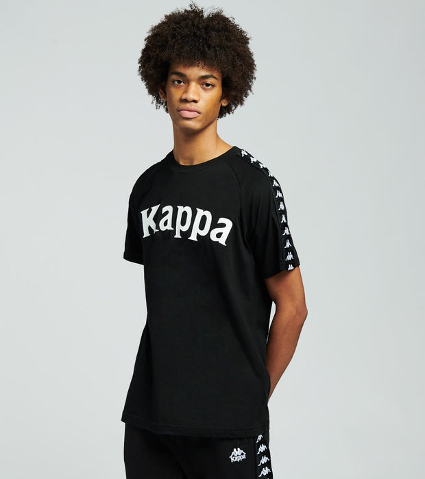 Kappa  222 Banda Balima Short Sleeve Tee  Black - 304NQ00-903 | Jimmy Jazz