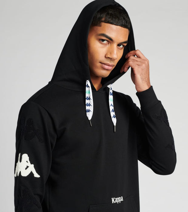 Kappa  Authentic Sand Charice Hoodie  Black - 304S4I0-A02 | Jimmy Jazz