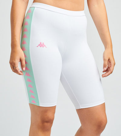 Kappa  Banda Circles Shorts  White - 304TJF0-D2D | Jimmy Jazz