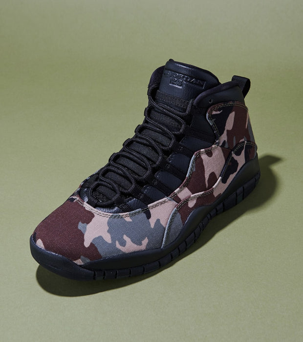 "Jordan  Air Jordan Retro 10 ""Woodland Camo""  Black - 310805-201 