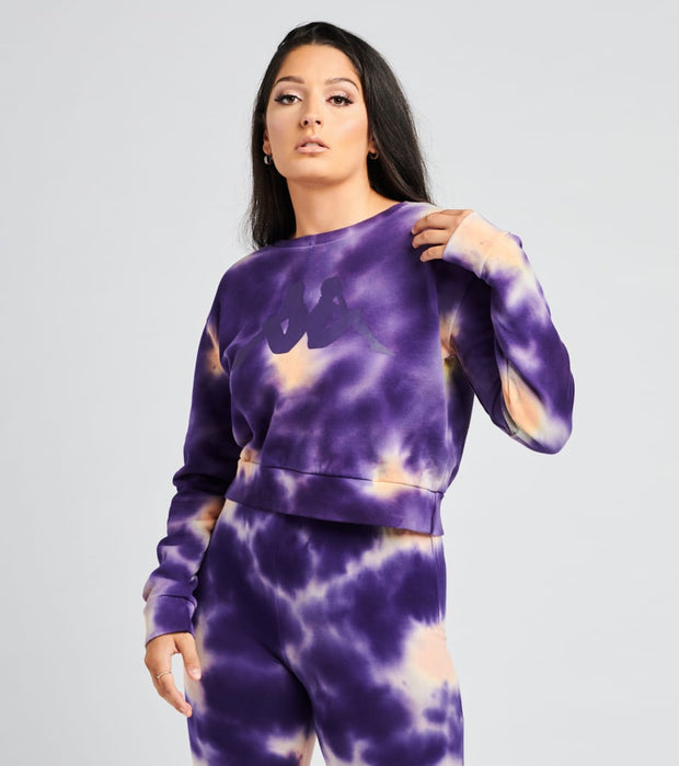 Kappa  Authentic Galz Tie Dye Sweatshirt  Purple - 3118G4W-A07 | Jimmy Jazz