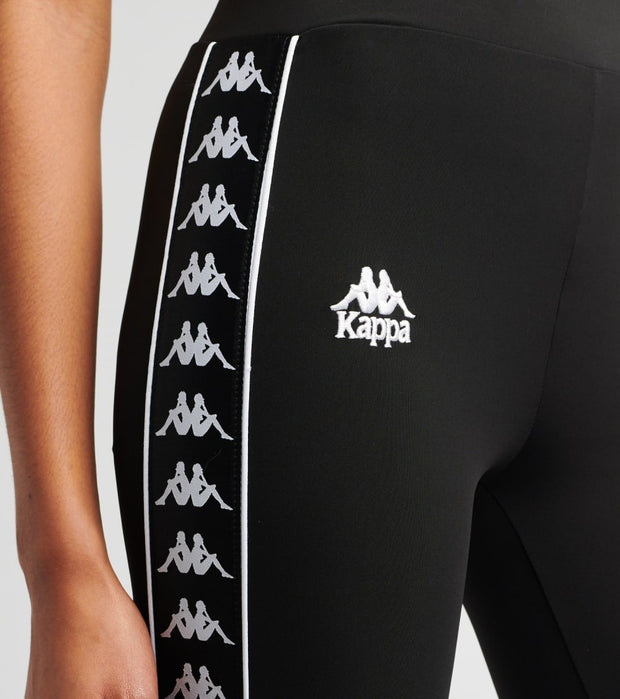 Kappa  222 Banda Barrio Leggings  Black - 311BZMW-A0E | Jimmy Jazz