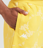 Kappa  Erya Fleece All Over Print Shorts  Yellow - 32157DW-A0H | Jimmy Jazz