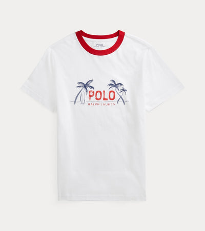 Polo Ralph Lauren  Boys Polo Palm Tree Short Sleeve Tee  White - 323834888002 | Jimmy Jazz