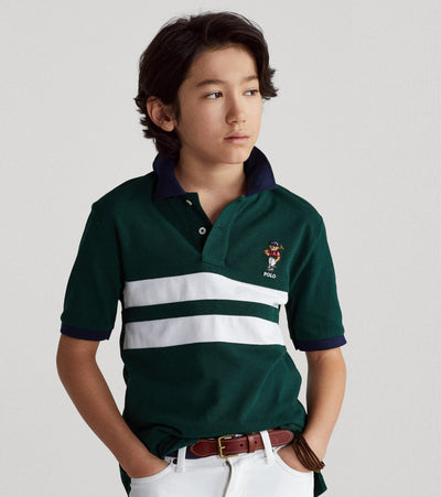 Polo Ralph Lauren  Boys Polo Bear Short Sleeve Knit Tee  Green - 323836595001 | Jimmy Jazz