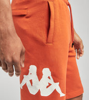 Kappa  Sangone Fleece Shorts  Orange - 34157FW-A4K | Jimmy Jazz