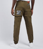 Iro-Ochi  Koshiki Field Pants  Green - 36268-OLV | Jimmy Jazz