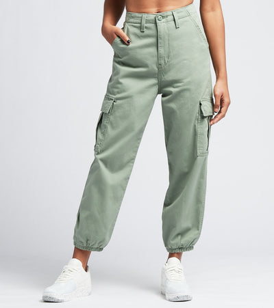 Levis  High Waisted Cargo Fine Twill Pants  Blue - 36697-0002 | Aractidf