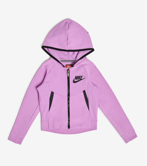 Nike  Girls NSW Tech Fleece Full Zip Hoodie  Pink - 36C362-P3R | Jimmy Jazz