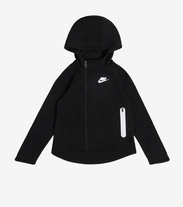 Nike  Girls Tech Fleece Full Zip Hoodie  Black - 36D653-023 | Jimmy Jazz