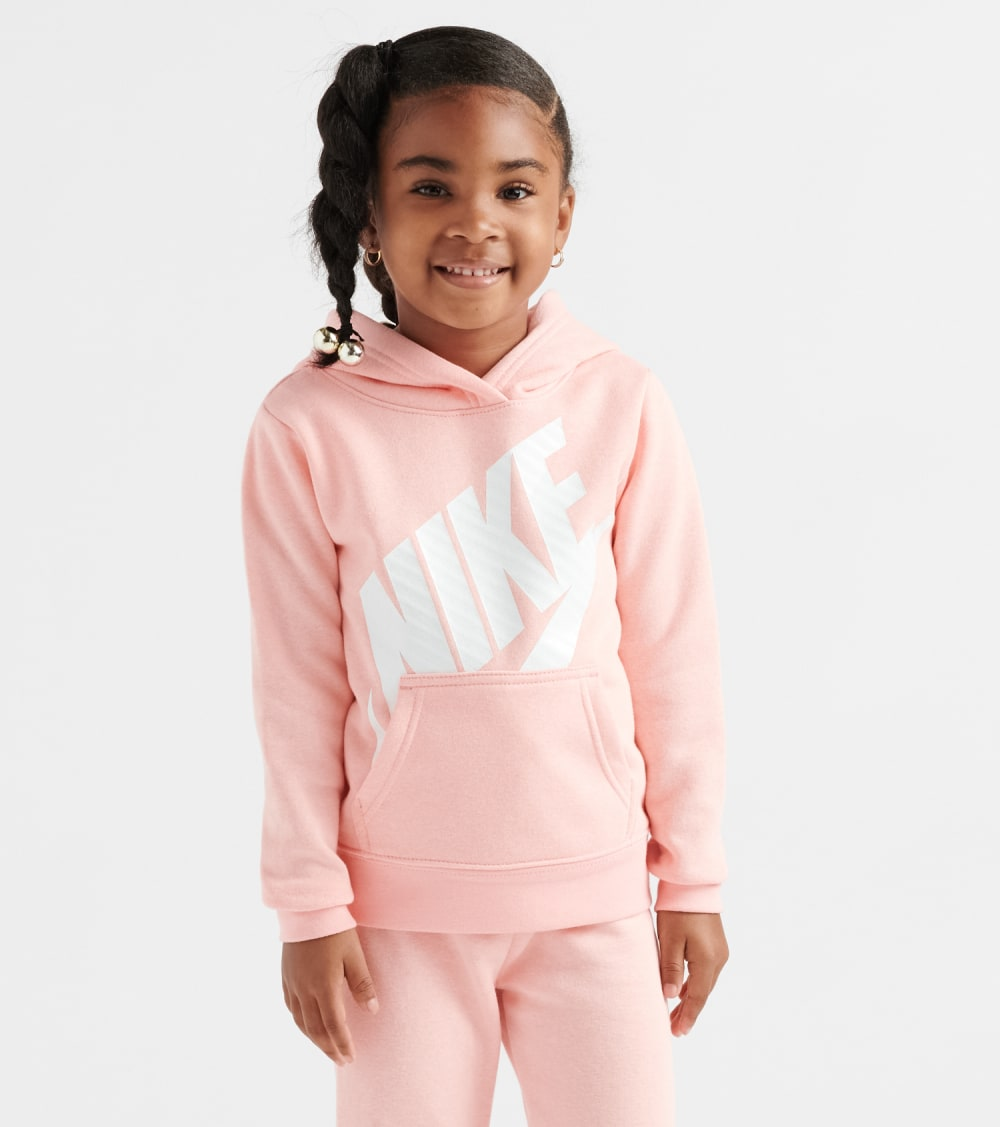 Nike  Girls 4-6x Futura Fleece Pullover Hoodie  Pink - 36E093-A6P | Jimmy Jazz