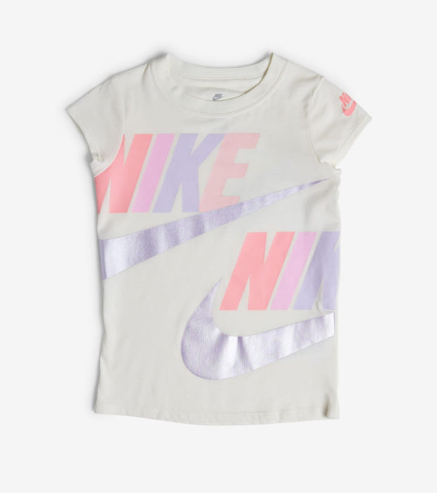 Nike  Girls Futura Split Core Tee  White - 36E605-782 | Jimmy Jazz
