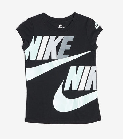 Nike  Girls Nike Futura Split Short Sleeve Tee  Black - 36E605-K8N | Jimmy Jazz