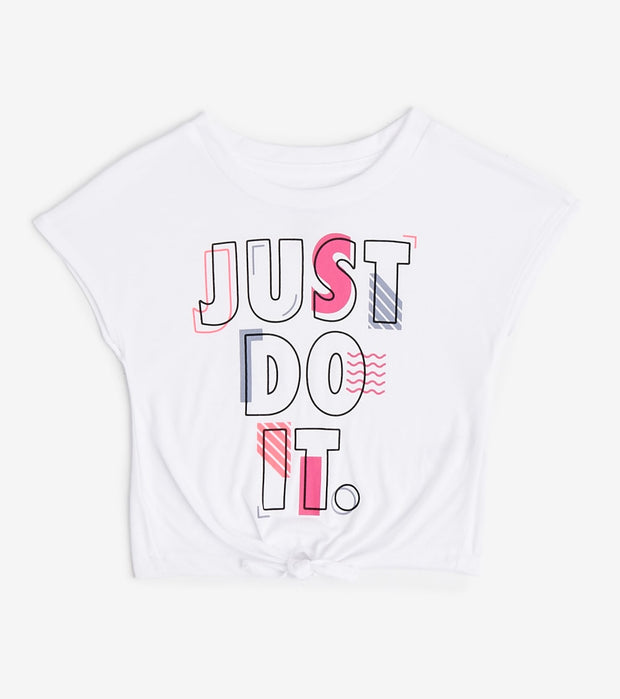 Nike  Girls Modern Tie Tee  White - 36E989-001 | Jimmy Jazz