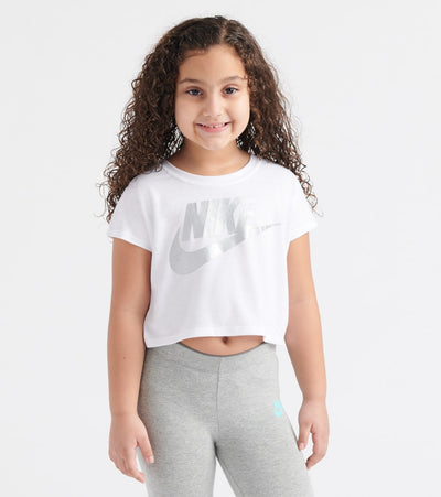 Nike  Futura Shine Crop Top  White - 36F056-001 | Jimmy Jazz