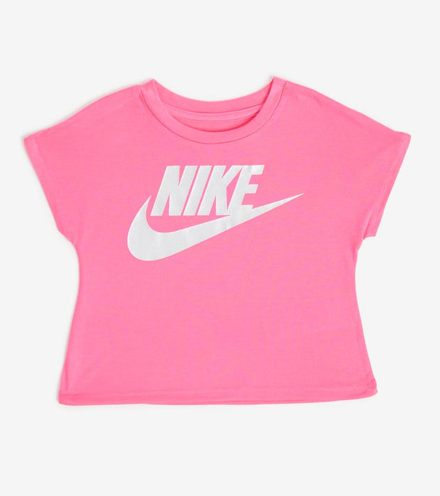 Nike  Girls Futura Shine Crop Top  Pink - 36F056-A96 | Jimmy Jazz
