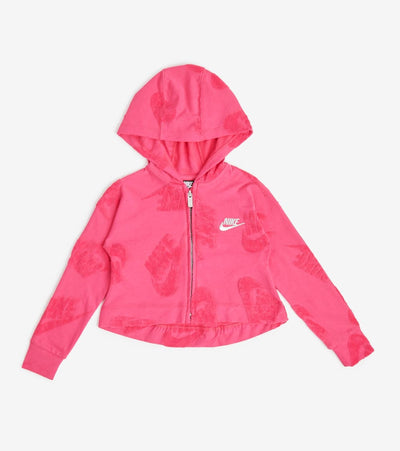 Nike  Girls Futura Full Zip Hoodie  Pink - 36F340-A4Y | Jimmy Jazz