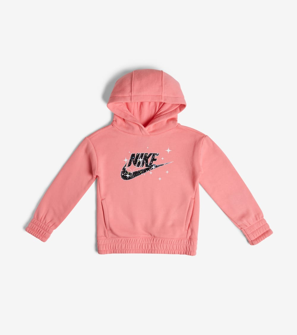 Nike  GIRLS 4-6X STARRY NIGHT FLC PO HOOD  Pink - 36F881-AB3 | Jimmy Jazz