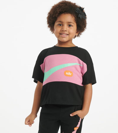 Nike  Girls Swoosh Cropped Top  Black - 36G008-023 | Jimmy Jazz